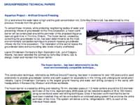 Aquarius Project – Artificial Ground Freezing