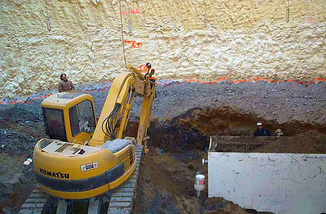Excavation of frozen ground